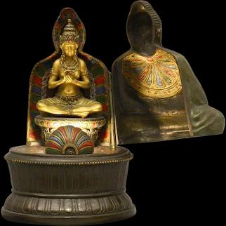 Erotic Franz Bergman Buddha Lamp