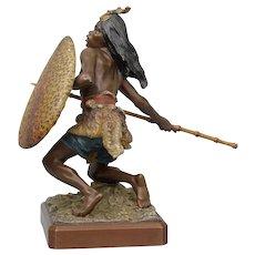 Bergman Vienna bronze African hunter, ca 1880.