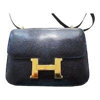 Hermès Constance 18 Black Lizard