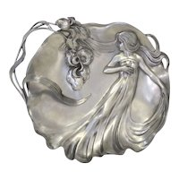Art Nouveau Pewter Dish by Achille Gamba
