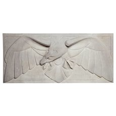 Carved Concrete Eagle Gable Stone by Jan Altorf, 1915