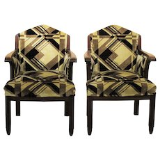 Pair of Art Deco Arm Chairs by Fa. Drilling, 1924