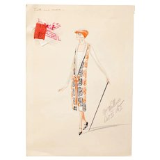 Original Art Deco Costume Designs for George Gershwin Broadway Musical, 1920s
