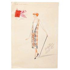 Original Art Deco Costume Designs for George Gershwin Broadway Musical, 1920s