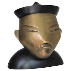 Art Deco Sculpture of an Asian Man by Hagenauer, Vienna, 1930s