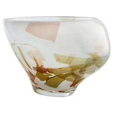 Art Glass Vase with organic shape by Sybren Valkema