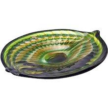 1950s Art Glass Shallow Bowl by Andries Copier, Leerdam Unicum, 1953