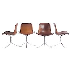 Set of four Tulip Chairs PK9 by  Poul Kjaerholm, first series 1961