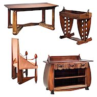 Furniture set by Michel de Klerk, Amsterdam School