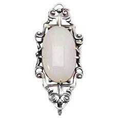 Art Deco Silver Piece of Jewelry, Fons Reggers, 1930s