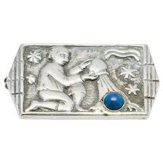 Art Deco Silver Brooch by Fons Reggers