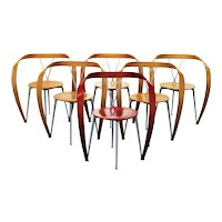 """Five """"Revers"""" Armchairs by Andrea Branzi for Cassina, 1993"""