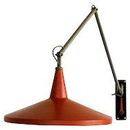 Red Panama Wall Lamp by Wim Rietveld for Gispen, Design Icon