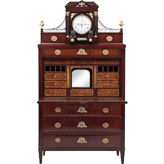 Empire Secretaire from Thuringia / probably Weimar (Germany), circa 1810.