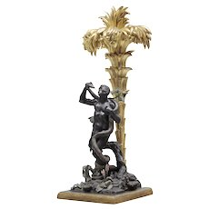 Italian Sculptural Group of the Personification of Africa, Napoli, 1. Half 19th century