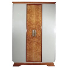 Great Art Deco Wardrobe, Italy 1920s