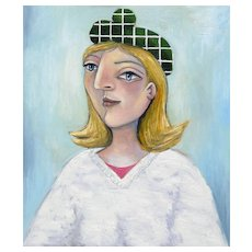 Girl in a Green Beret | 2015 | Oil painting | Erik Renssen (NL. 1960)