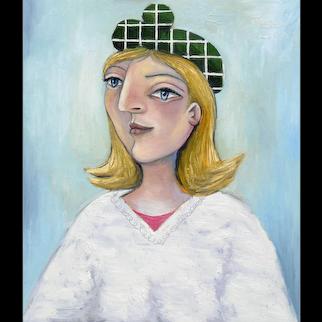 Girl in a Green Beret   2015   Oil painting   Erik Renssen (NL. 1960)