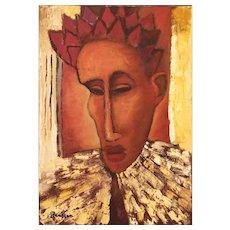 Mask VI   1997   Oil Painting   Erik Renssen (NL. 1960)