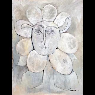 Femme fleur III   2007   Oil painting   Erik Renssen (NL. 1960)