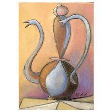 Coffee Pot  II   2011   Oil painting   Erik Renssen (NL. 1960)