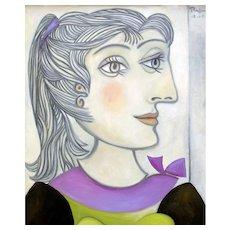 Woman with ponytail | 2011 | Oil painting | Erik Renssen (NL. 1960)