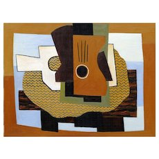 Two Guitars on a Table   2014   Oil & sand on canvas   Erik Renssen (NL. 1960)