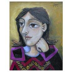Girl with Dark Brown Hair | 2014 | Oil painting | Erik Renssen (NL. 1960)