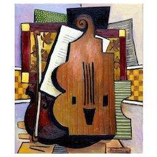 Violin & Sheet Music | 2014 | Oil painting | Erik Renssen (NL. 1960)