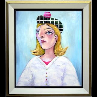 Girl in a Green Baret   2015   Oil painting   Erik Renssen (NL. 1960)