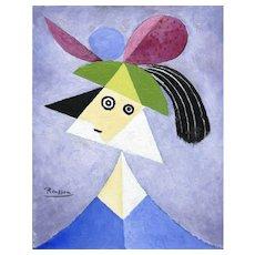 Woman with Hat | 2015 | Oil painting | Erik Renssen (NL. 1960)