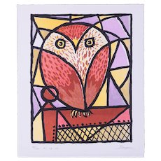 Little Owl | 2015 | Lithograph | Erik Renssen (NL. 1960)