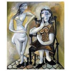 Two Women | 2014 | Oil painting | Erik Renssen (NL. 1960)