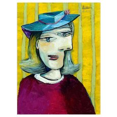 Woman with small hat | 2016 | Oil painting | Erik Renssen (NL. 1960)