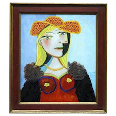 Blond girl with necklace   2018   Oil Painting   Erik Renssen (NL. 1960)