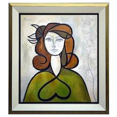 Woman with leaves in her hair | 2020 | Oil Painting | Erik Renssen (NL. 1960)