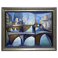 The canals of Amsterdam   2021   Oil Painting   Erik Renssen (NL. 1960)