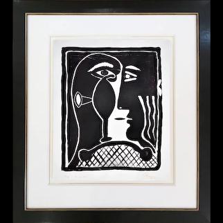 Mask II   edition of 16   2021   Lithograph   Erik Renssen (NL. 1960)