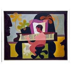 The piano player   2021   Oil painting   Erik Renssen (NL. 1960)
