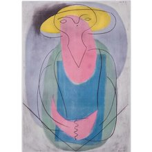 Woman with Yellow Hat, Pablo Picasso | Hand Colored Pochoir