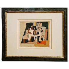 Interior, 1920 after Picasso   1933   Pablo Picasso   Hand Colored Pochoir