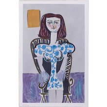 Young Girl, Pablo Picasso | Hand Colored Pochoir