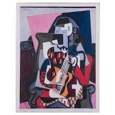 Harlequin, Pablo Picasso | Hand Colored Pochoir