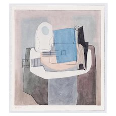Still life with Guitar, Pablo Picasso | Hand Colored Pochoir