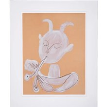 Faun playing Flute, Pablo Picasso | Hand Colored Pochoir