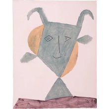 Large green Faun, Pablo Picasso | Hand Colored Pochoir