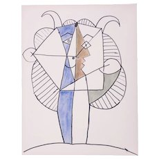 Large Faun, Pablo Picasso | Hand Colored Pochoir