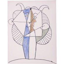 Large Faun, Pablo Picasso | Hand Colored Pochoir