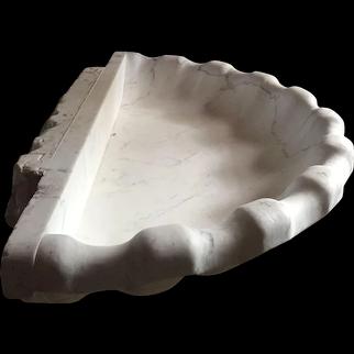 Art Deco gigantic carrara shell , 1940