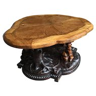Victorian oak Black Forest style centre table